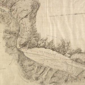 El Molino de Brufal y el Molino de La Viuda en el plano de Manuel Chapuli (1882).