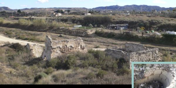 Ruinas del molino de Meseguera en la actualidad.