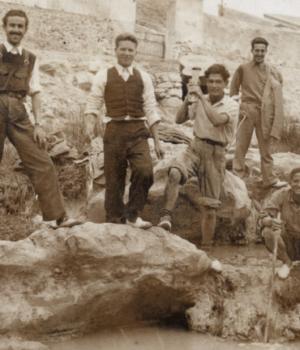 Jornada de pesca en las charcas del Vinalopó. Año 1942.